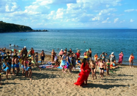 Beach in the English-speaking camp in Bulgaria